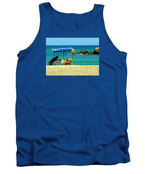 Beach Entrepreneur In San Jose Del Cabo Tank Top by Barbie Corbett-Newmin
