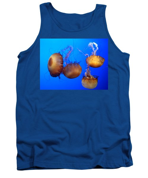 Tank Top featuring the photograph Beautiful Jellyfish by Janice Spivey