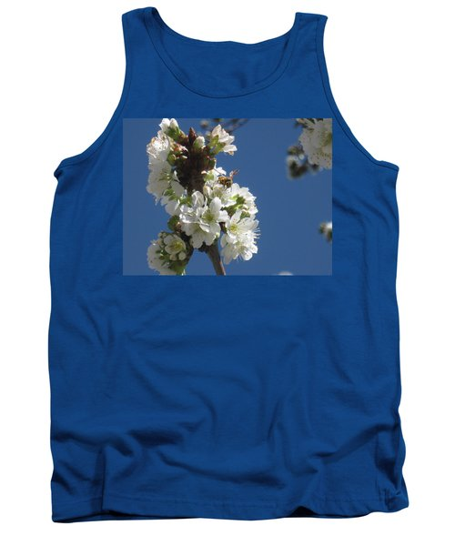 Bee On Cherry Blossoms Tank Top