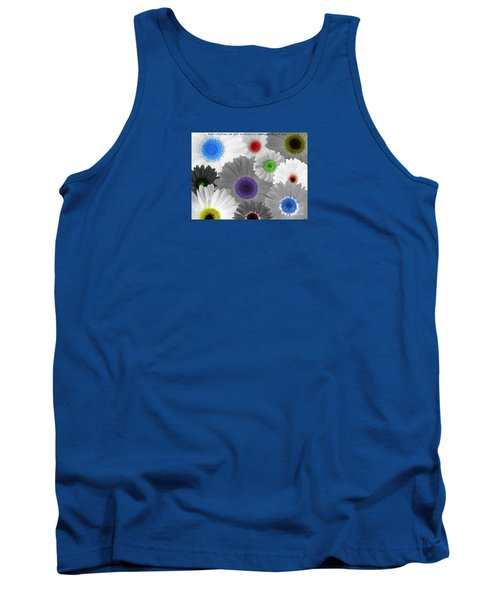 Tank Top featuring the digital art Behind Every Black And White Dream Theres A Rainbow Waiting To Be Seen by Janice Westerberg