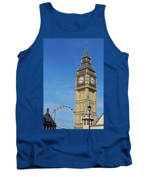 Big Ben And London Eye Tank Top
