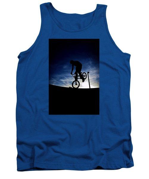 Bike Silhouette Tank Top by Joel Loftus