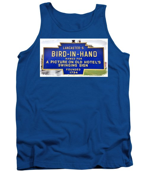 Bird-in-hand City Sign Tank Top