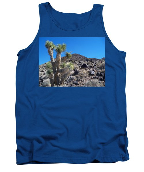 Tank Top featuring the photograph Black Mountain Yucca by Alan Socolik