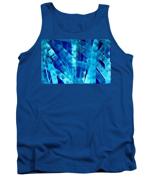 Blue Abstract Art - Paths - By Sharon Cummings Tank Top