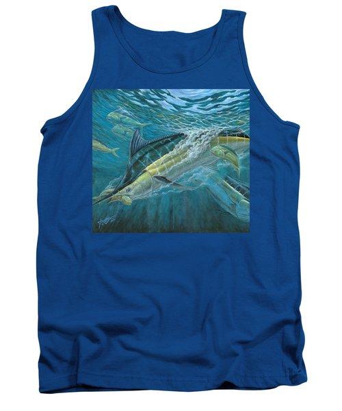 Blue And Mahi Mahi Underwater Tank Top