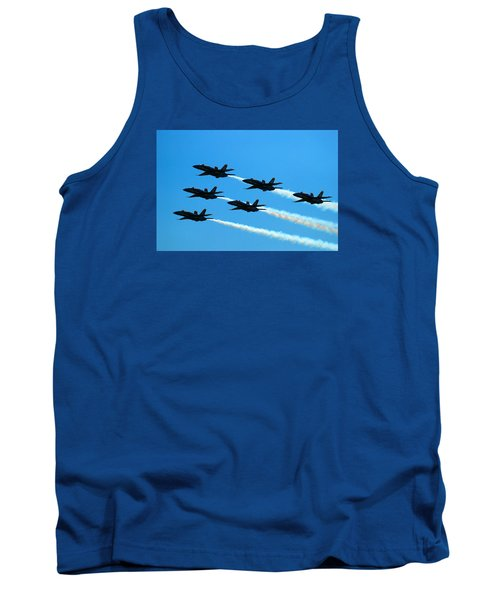 Tank Top featuring the photograph Blue Angels The Need For Speed by James Kirkikis