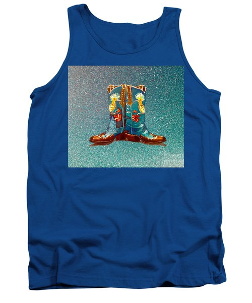 Blue Boots Tank Top