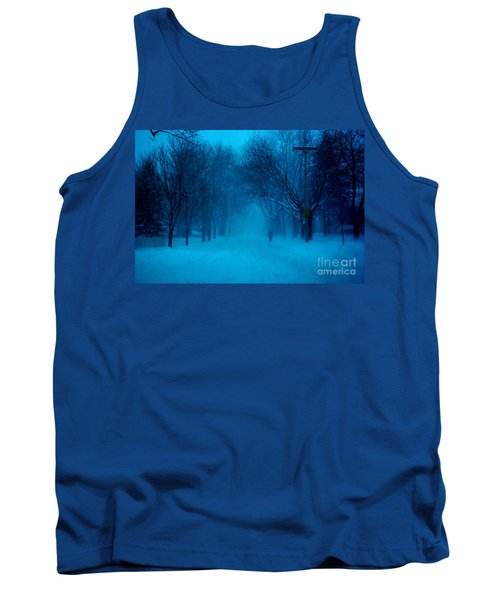 Blue Chicago Blizzard  Tank Top