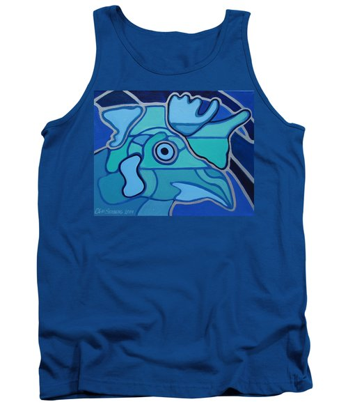 Blue Chicken Abstract Tank Top