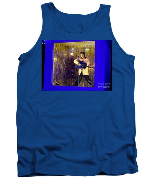 Blue Christmas Without Elvis Tank Top