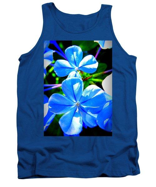 Blue Flower Tank Top by David Mckinney