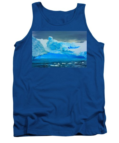 Tank Top featuring the photograph Blue Icebergs by Amanda Stadther