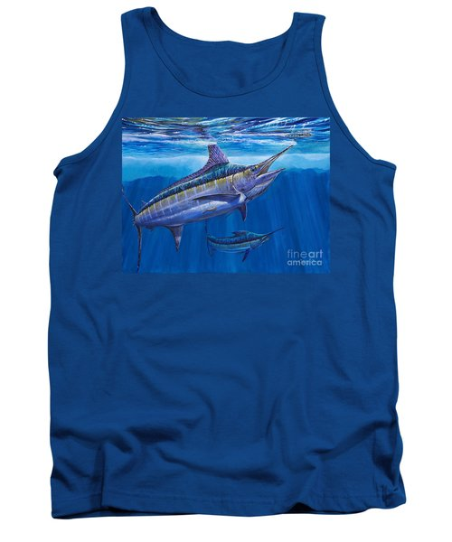 Blue Marlin Bite Off001 Tank Top by Carey Chen