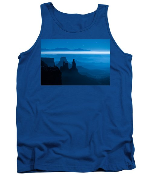Tank Top featuring the photograph Blue Moon Mesa by Dustin  LeFevre
