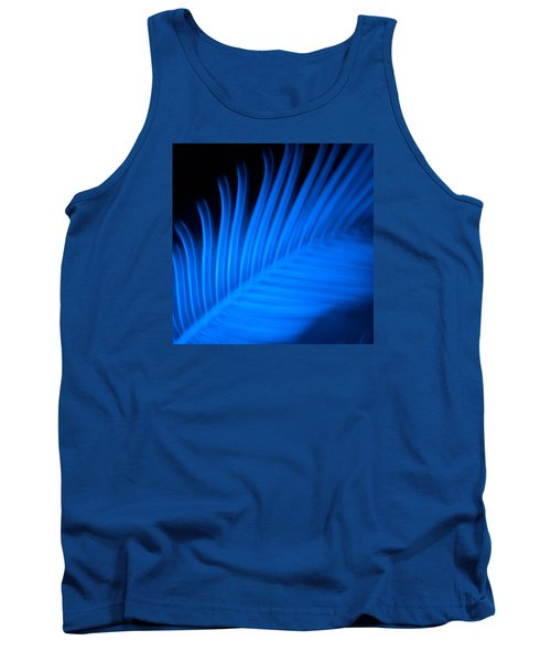Blue Palm Tank Top