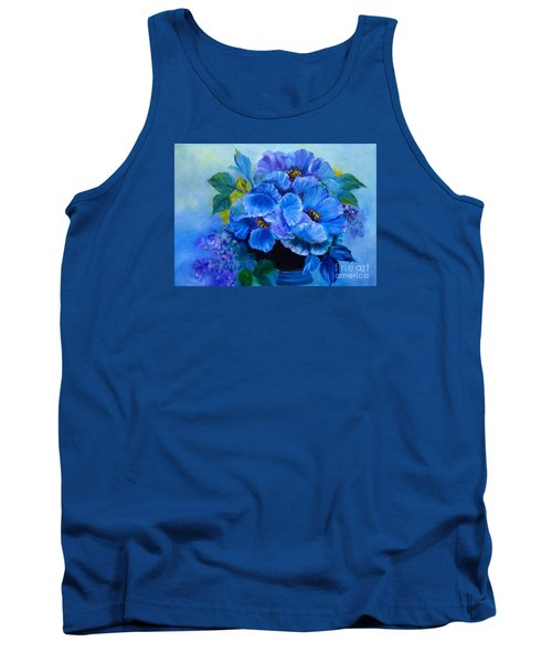Blue Poppies Tank Top