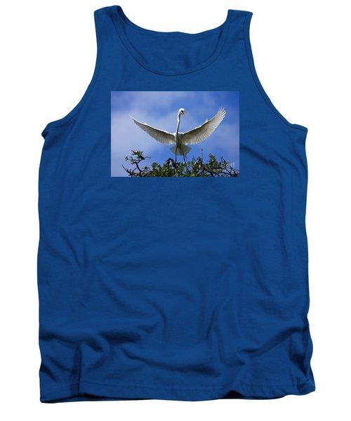 Tank Top featuring the photograph Blue Sky Landing by John F Tsumas