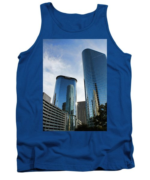 Blue Skyscrapers Tank Top by Judy Vincent