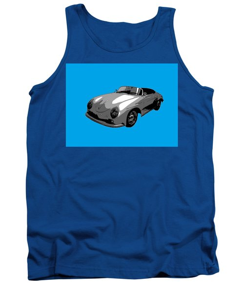 Blue Speedster Tank Top by J Anthony