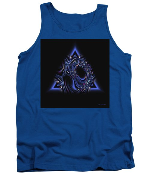 Blue Triangle Jewel Abstract Tank Top