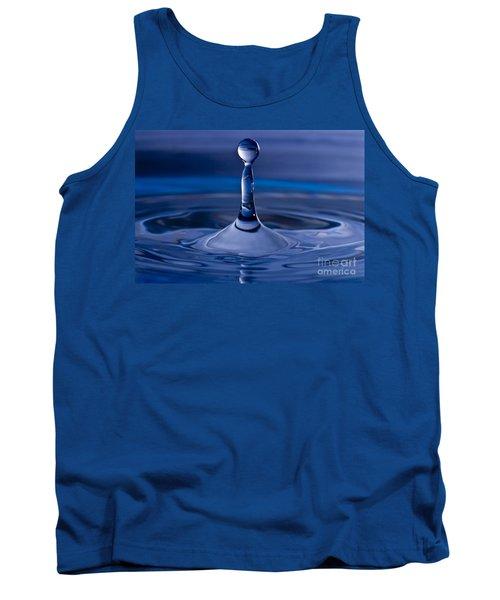 Blue Water Drop Tank Top