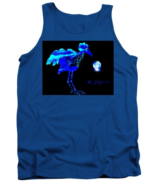 Tank Top featuring the painting Bluebird Watching by Hartmut Jager