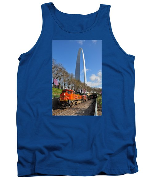 Bnsf Ore Train And St. Louis Gateway Arch Tank Top