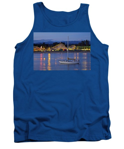 Boat At Twilight Tank Top