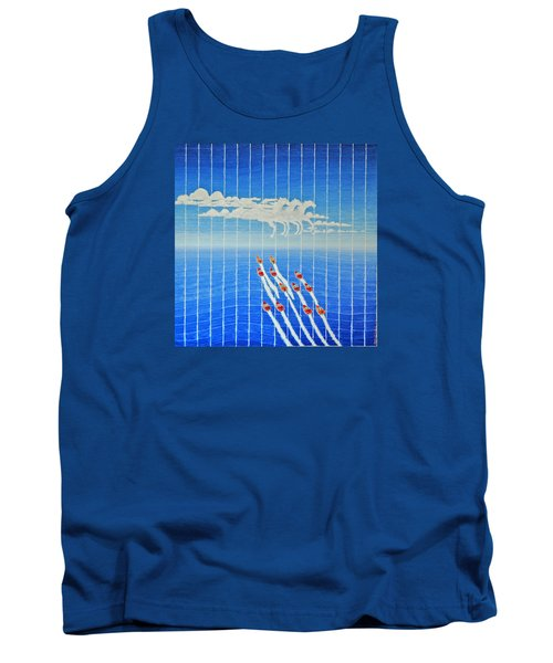Boat Race Horse Clouds Tank Top