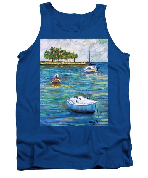 Boats At St Petersburg Tank Top by Michael Daniels