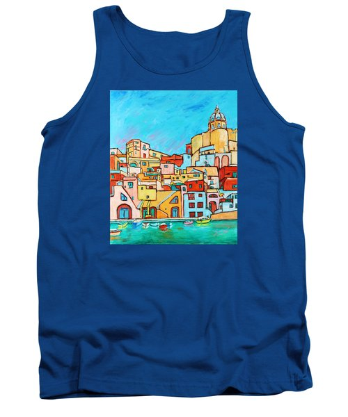 Boats In Front Of The Buildings Vii Tank Top by Xueling Zou