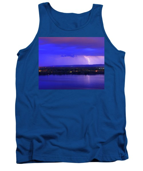 Bolt Over Gatineau Hills  Tank Top