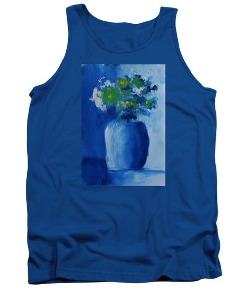 Bouquet In Blue Shadow Tank Top