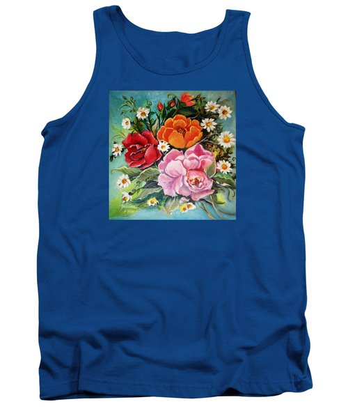 Bunch Of Flowers Tank Top by Yolanda Rodriguez