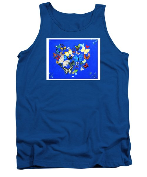 Butterfly Heart Tank Top by Anne Marie Brown
