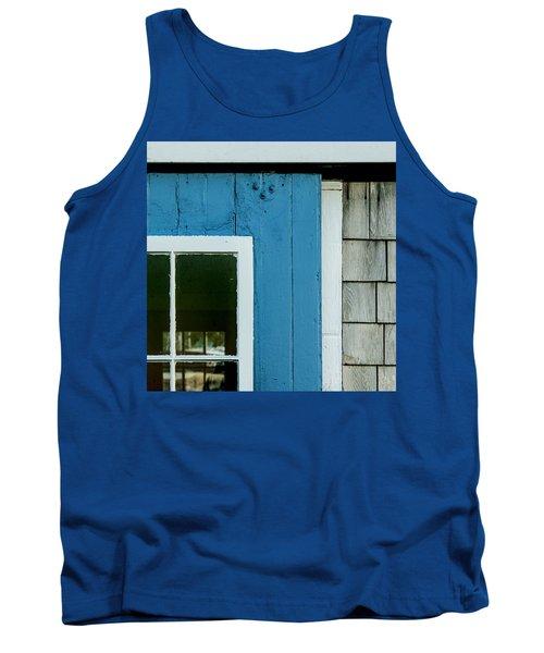 Old Door In Blue Tank Top