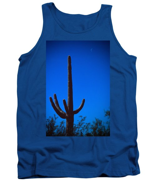 Cactus And Moon Tank Top