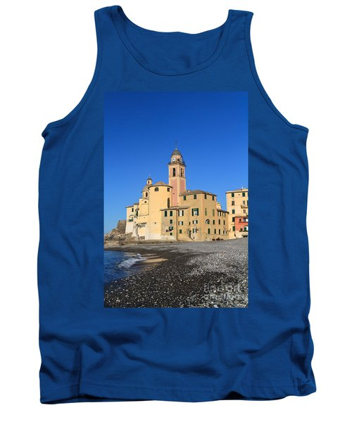 Tank Top featuring the photograph Camogli Seaside And Church by Antonio Scarpi