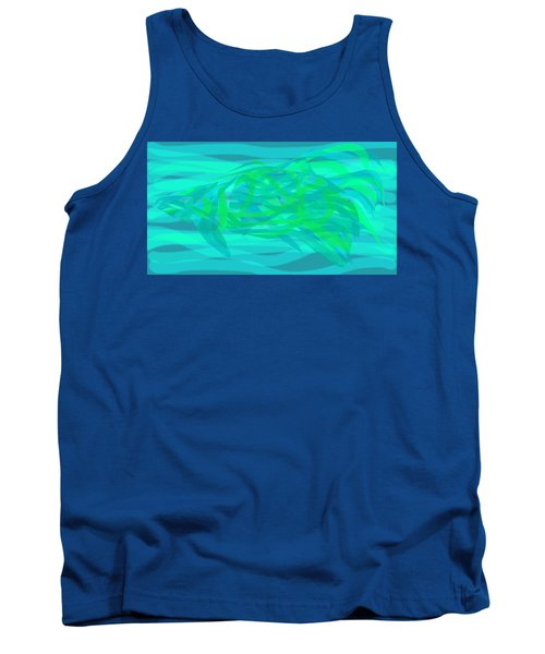Tank Top featuring the digital art Camouflage Fish by Stephanie Grant