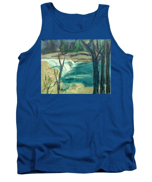 Tank Top featuring the painting Canajoharie Creek Near Village by Betty Pieper