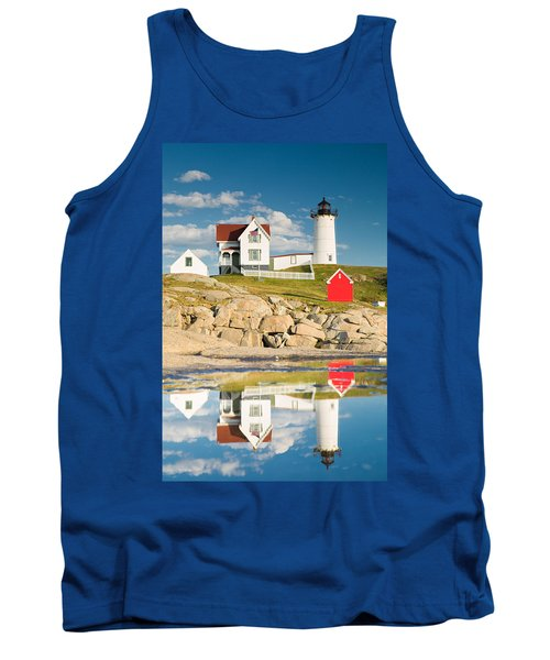 Cape Neddick Light  Reflections Tank Top