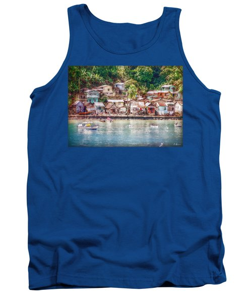 Tank Top featuring the photograph Caribbean Village by Hanny Heim