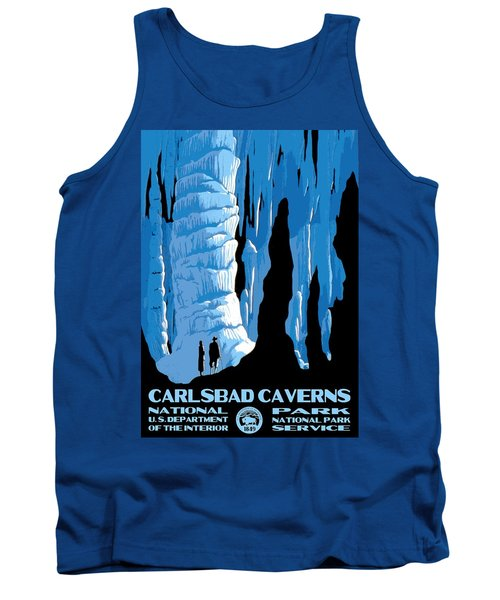 Carlsbad Caverns National Park Vintage Poster Tank Top