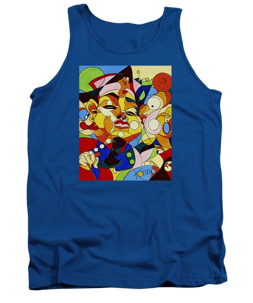 Cartoon Painting With Hidden Pictures Tank Top