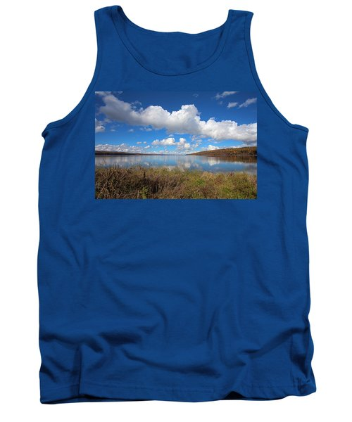 Tank Top featuring the photograph Cayuga Lake In Colorful Fall Ithaca New York II by Paul Ge