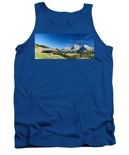 Tank Top featuring the photograph Chalet In South Tyrol by Carsten Reisinger