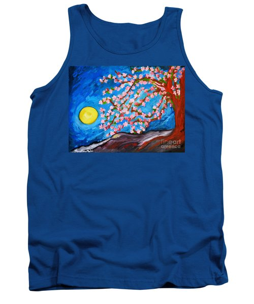 Cherry Tree In Blossom  Tank Top by Ramona Matei