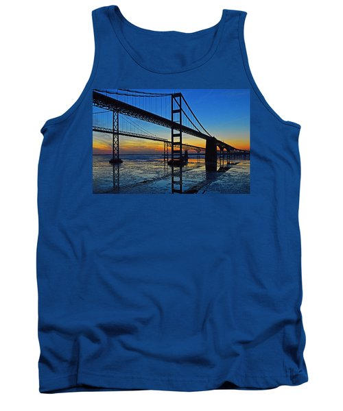 Chesapeake Bay Bridge Reflections Tank Top