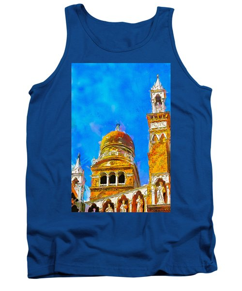 Tank Top featuring the painting Church Of Madonna Dell'orto by Greg Collins